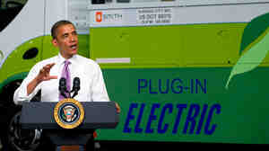 President Obama speaks at Smith Electric Vehicles in Kansas City, Mo., last week.
