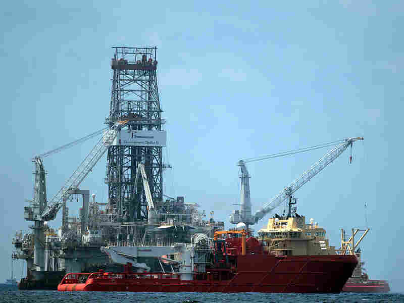 Vessels operate in the area of the Deepwater Horizon oil spill in the Gulf of Mexico.