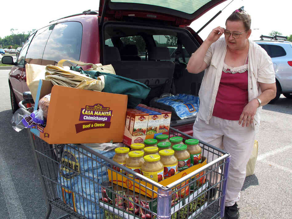 Connie Williamson of Carlisle, Pa., struggles to get enough food to feed her family each month.