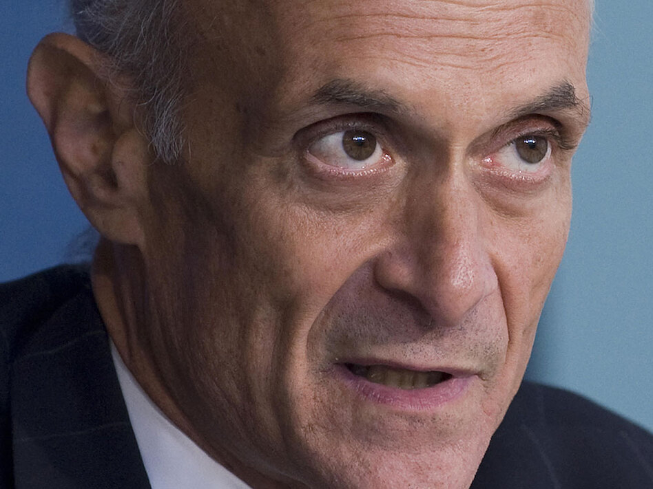 Former Homeland Security Secretary Michael Chertoff, pictured in 2009, says the number of committees and subcommittees that oversee the department is problematic because the agency gets inconsistent direction.