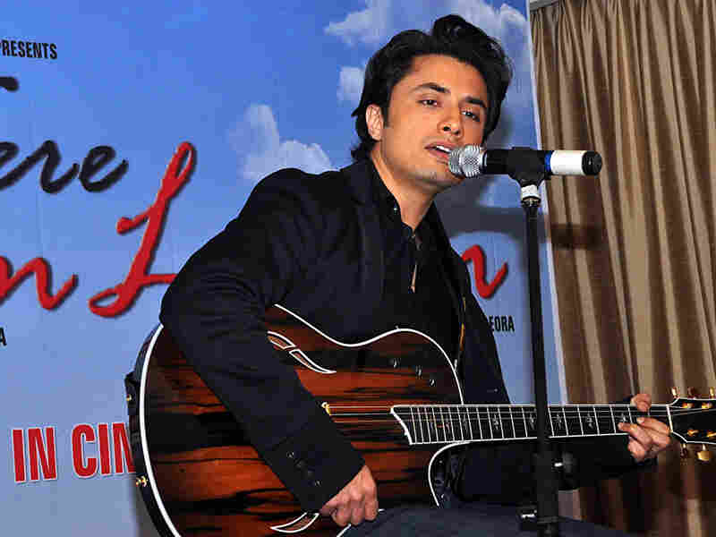 Pakistani pop singer Ali Zafar performs at a press conference for the film 'Tere Bin Laden' in June.