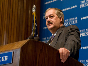 Don Blankenship of Massey Energy Company speaks at a National Press Club luncheon Thursday.