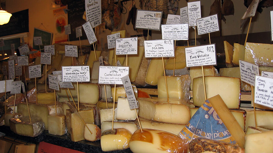 When the dollar started loosing against the euro, the Chinese were buying large quantities of European milk. It pushed up the prices of European cheeses -- creating angst for specialty food owners.