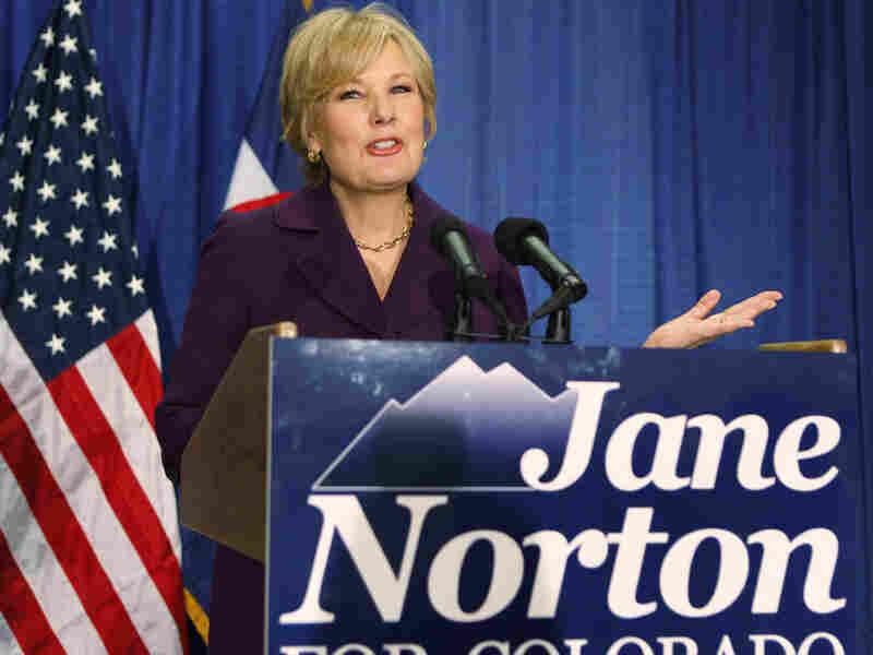 Colo. GOP U.S. Senate candidate Jane Norton announces her campaign on Sept. 15.
