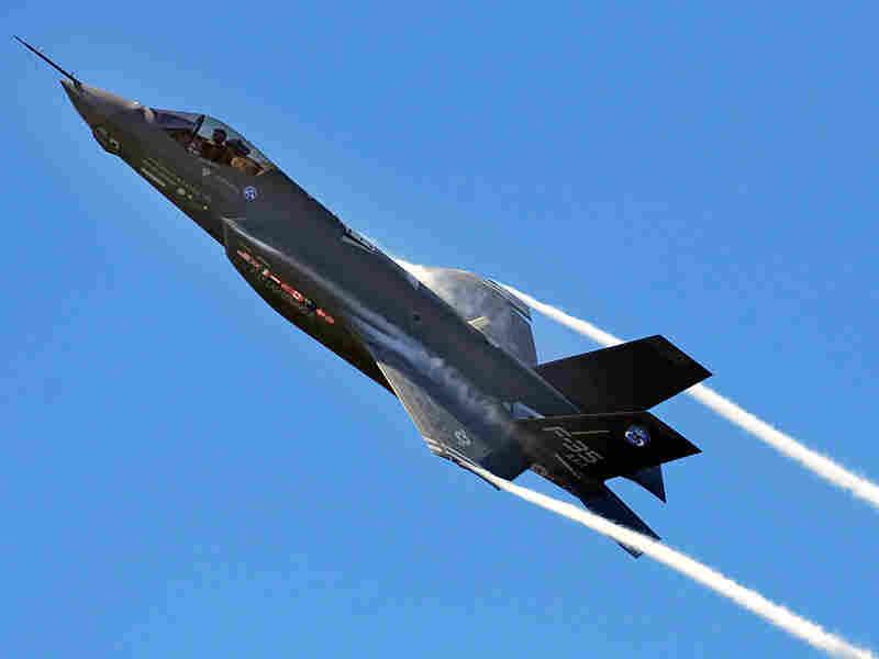 F-35 Joint Strike fighter Lightning II is seen in flight.