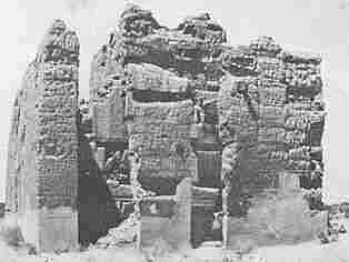 An 1846 photo of a Hohokam ruin in what is now Phoenix.
