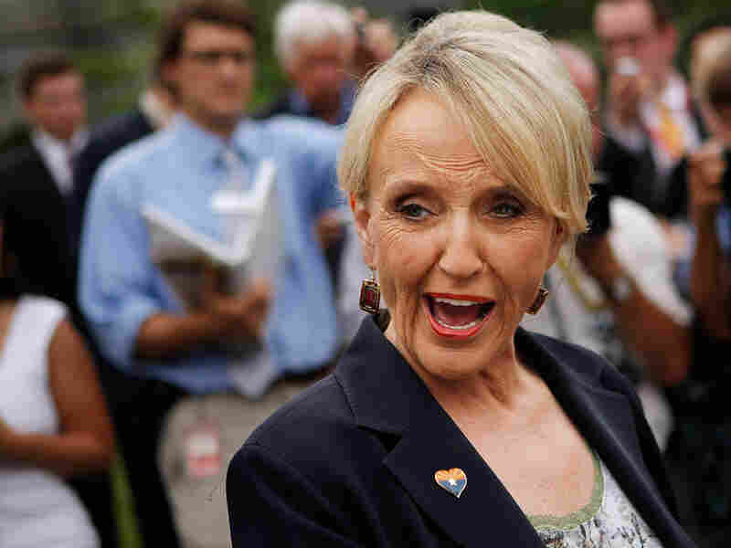Arizona Gov. Jan Brewer, on June 3, after meeting with President Obama at the White House.