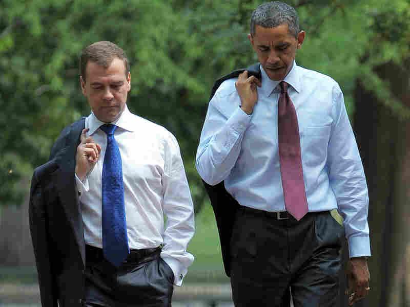 President Barack Obama and Russian President Dmitry Medvedev