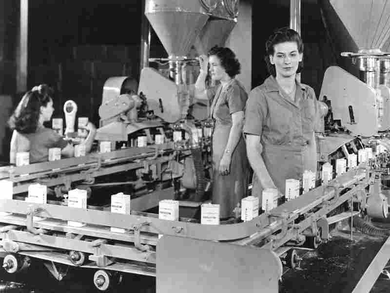 Workers in a McCormick spice plant, circa 1945.