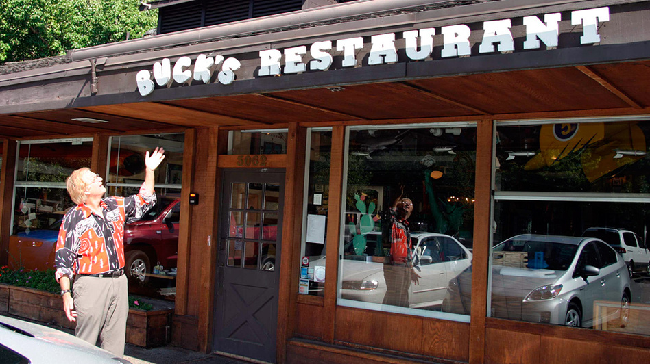 Jamis MacNiven bought Buck's Restaurant in 1991; it quickly became a hangout for venture capitalists from around Woodside, Calif. (NPR)
