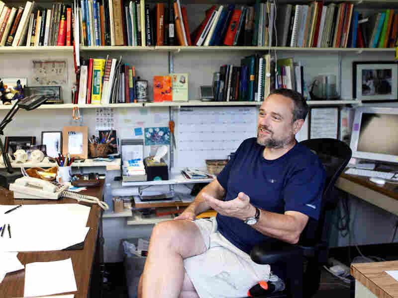 John Shea in his office at Stony Brook University