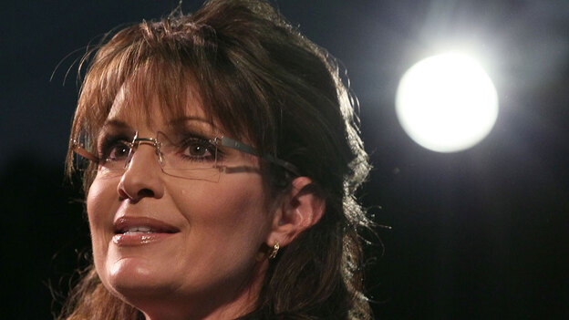 Palin at the Susan B. Anthony List 'Celebration of Life' breakfast in Washington on May 14. (Getty Images)