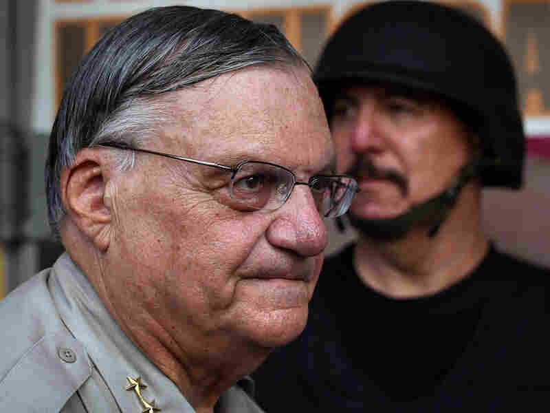 Maricopa County Sheriff Joe Arpaio in front of the county jail