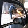 A Toyota Sienna minivan has been bulletproofed