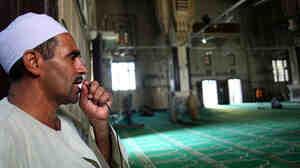 Ahmed Abdel Aziz sings the call to prayer,