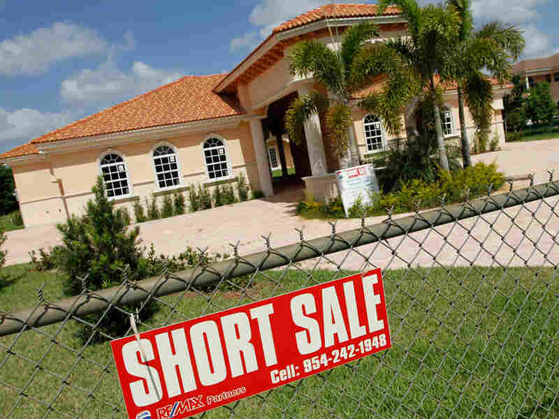 A new home in Davie, Fla., is offered for short sale in May.