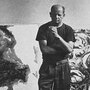 Jackson Pollock in his studio, 1953