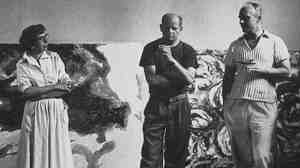 Jackson Pollock in his studio, 1953