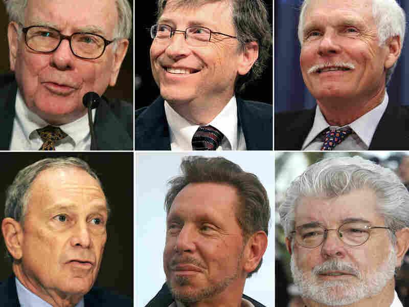 Warren Buffett, Bill Gates, Ted Turner, George Lucas, Larry Ellison and Michael Bloomberg