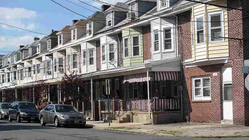 A residential street in Trenton
