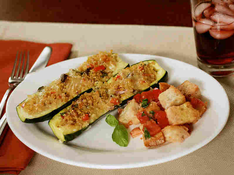 For Meatless Monday devotee Colleen Levine, Quinoa-Stuffed Zucchini Boats are on the menu.