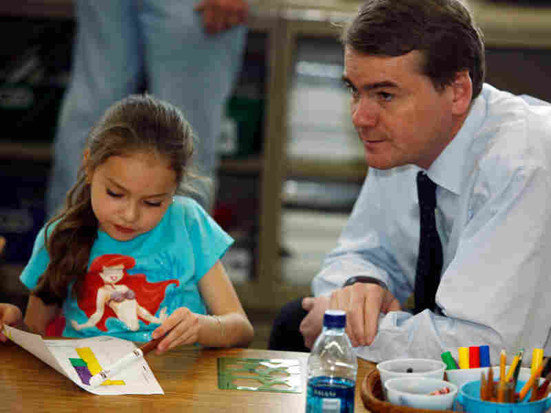 Sen. Michael Bennet (D-CO), while visiting a school in Denver last March.