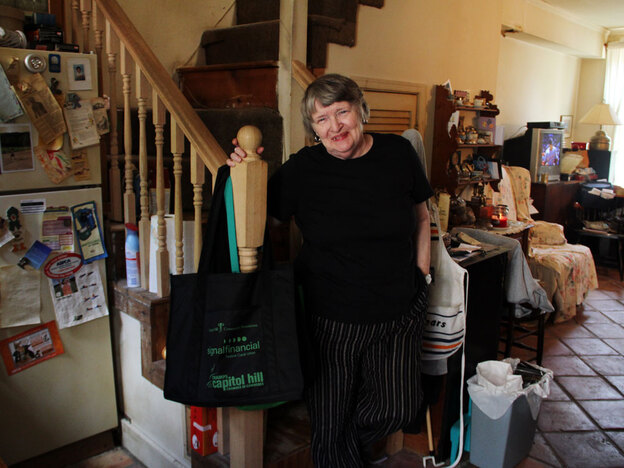 Patricia Witt credits the Capitol Hill Village for helping her stay in her home. Volunteers drive her to doctors' appointments and help with household repairs.