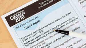 A U.S. census form
