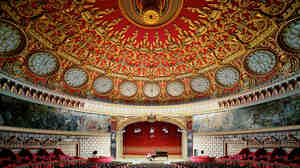Interior view of the Romanian Antheneum, Bucharest