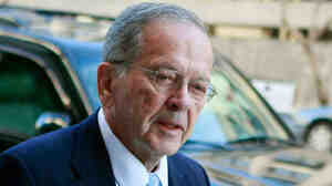 Ted Stevens arrives at the E. Barrett Prettyman Federal Courthouse on Oct. 20, 2008.