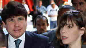 Former Illinois Gov. Rod Blagojevich and his wife..