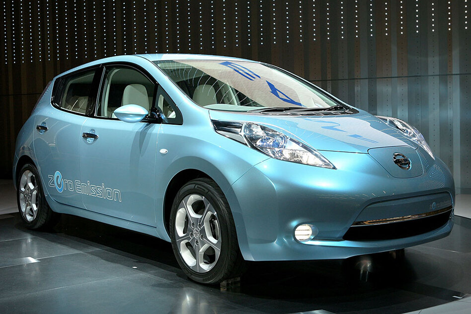 The Nissan Leaf goes for $33,000 -- $8,000 less than the Chevy Volt.