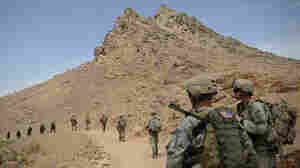 American soldiers patrol in the Arghandab Valley, Kandahar province, on Aug. 3.