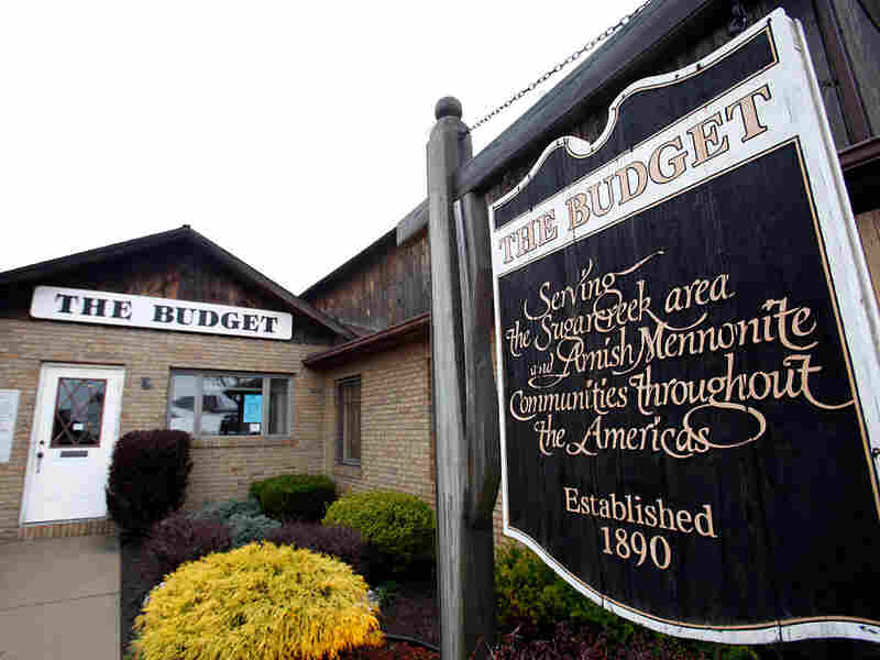 "The headquarters for Amish newspaper ""The Budget"" in Sugarcreek, Ohio."