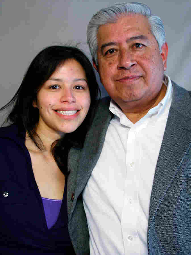 Cindy Mosqueda with her father, Carlos Mosqueda