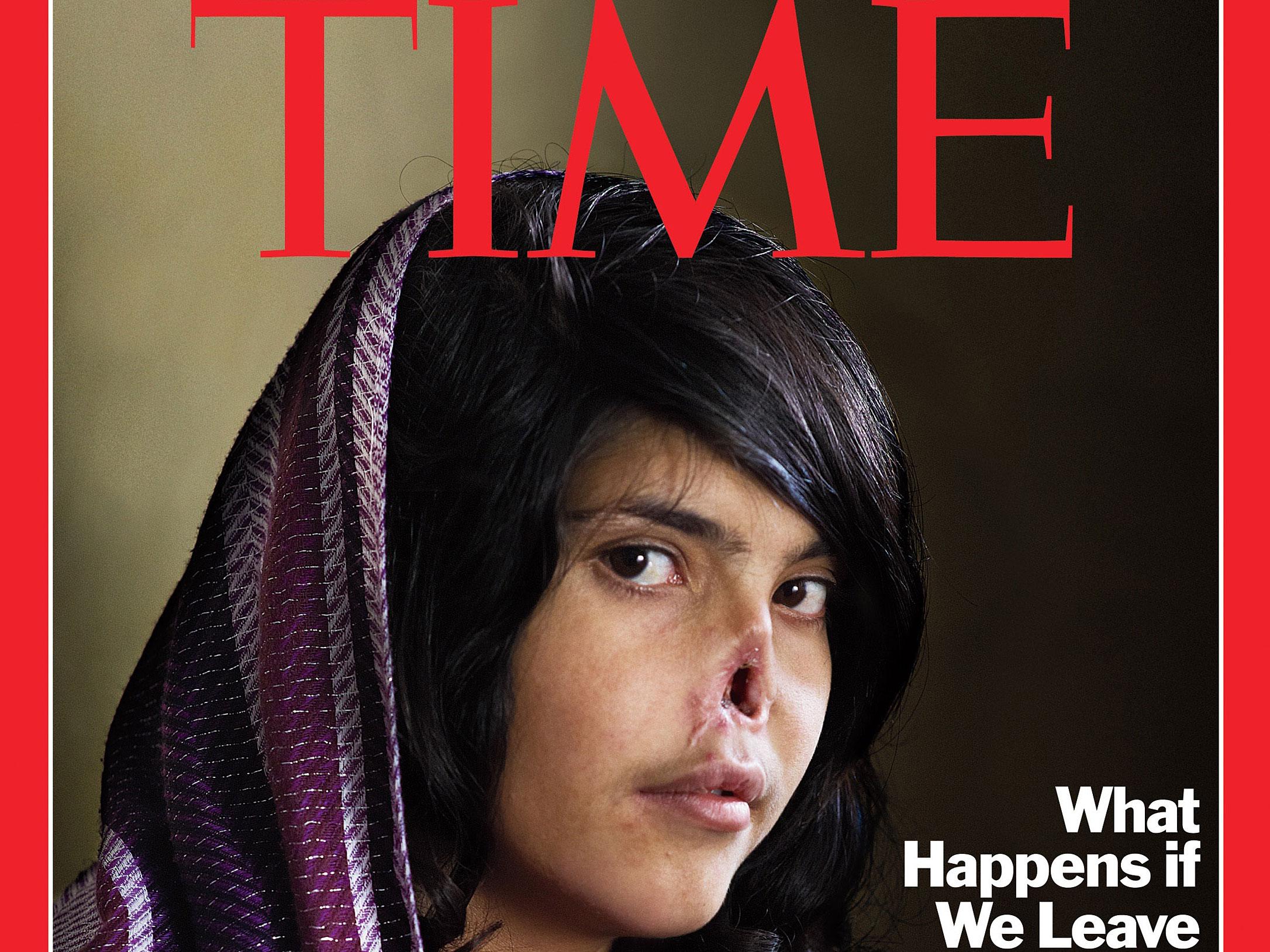 Afghan woman magazine time