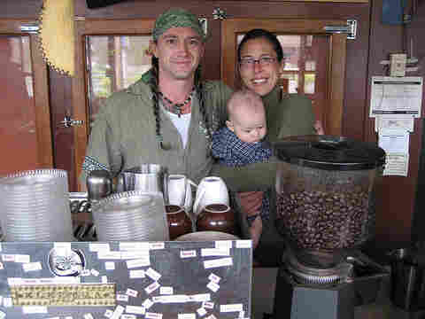 Greg Spoon, Becky Chamberlin and their son, Jasper