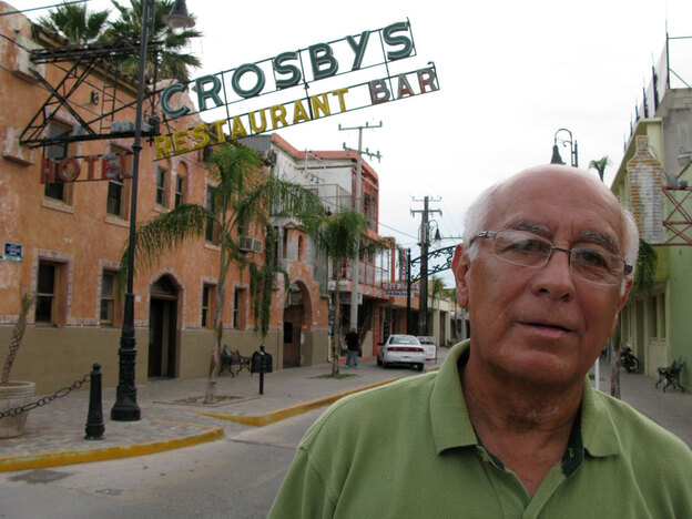 Gabriel Ramos co-owns Mrs. Crosby's, a border bar founded in the 1920s. He says that in all of its existence, the bar in Ciudad Acuna has never struggled so much to pay its employees.