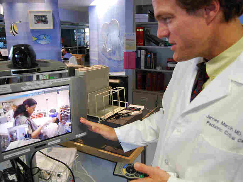 Dr. James Marcin consults remotely with rural health care professionals.