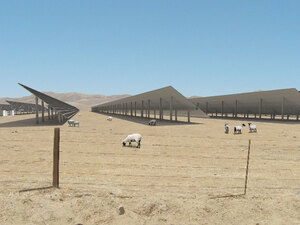 Illustration of the proposed solar array in Panoche Valley