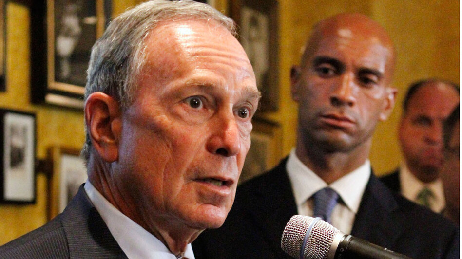 New York City Mayor Michael Bloomberg (left) endorsed Washington, D.C., Mayor Adrian Fenty on Tuesday.