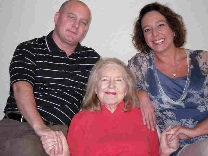 Lida and Chris Bridgers with Lida's mother, Flora Roberts