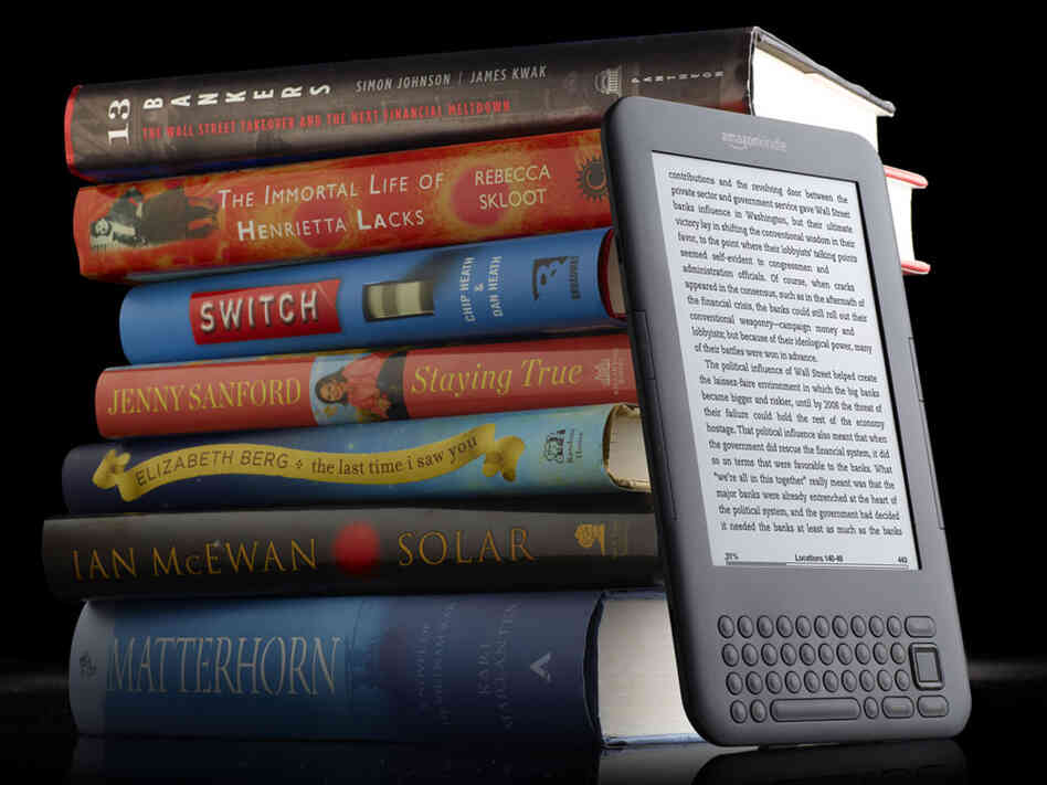 This product image provided by Amazon.com shows the new Kindle 3 reader.
