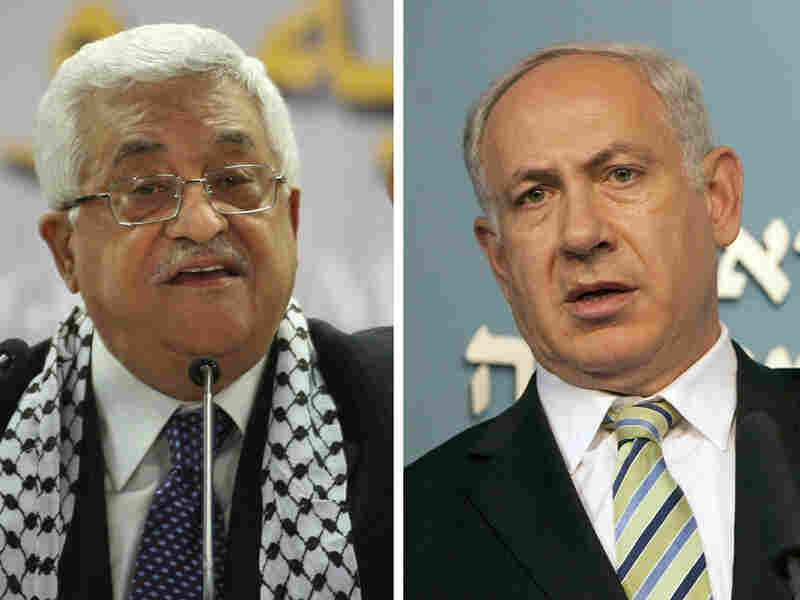 Palestinian leader Mahmoud Abbas and  Israeli Prime Minister Benjamin Netanyahu