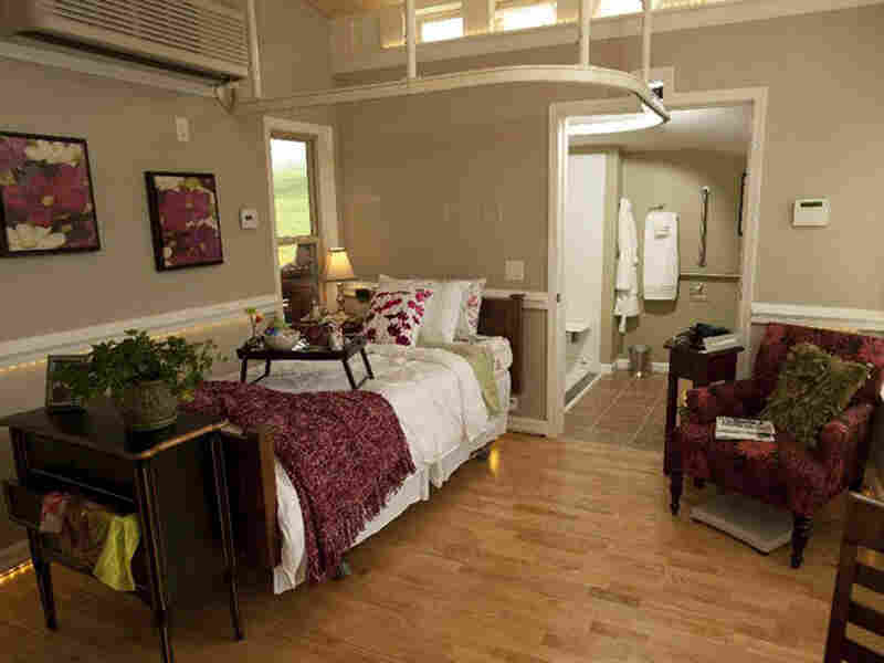 The interior of a MEDCottage. Courtesy N2Care.