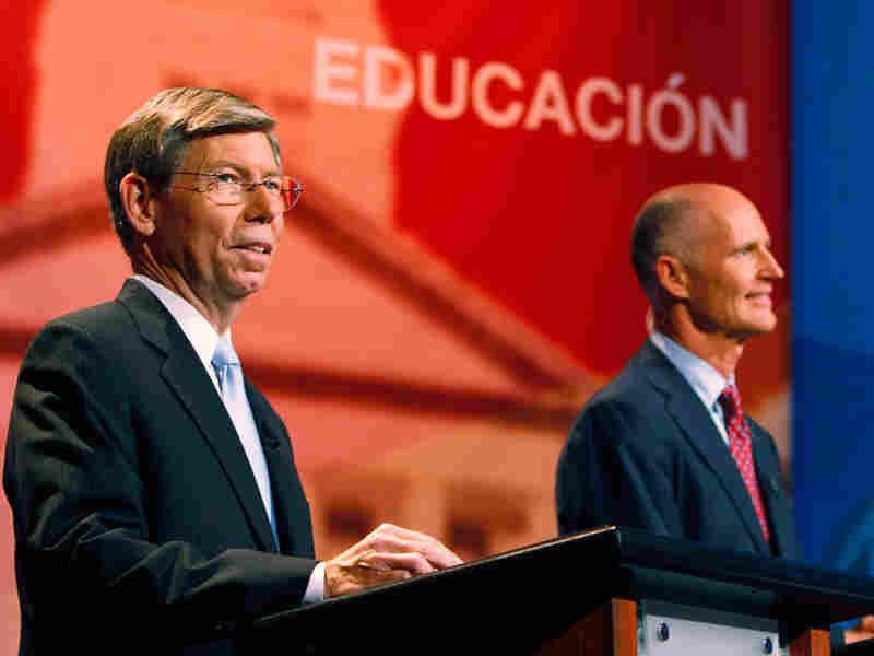 GOP gubernatorial contenders Bill McCollum (left) and Rick Scott.