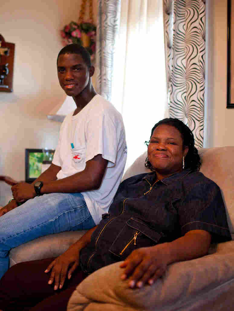 Donnell Bailey with his mother, Tracy Bailey