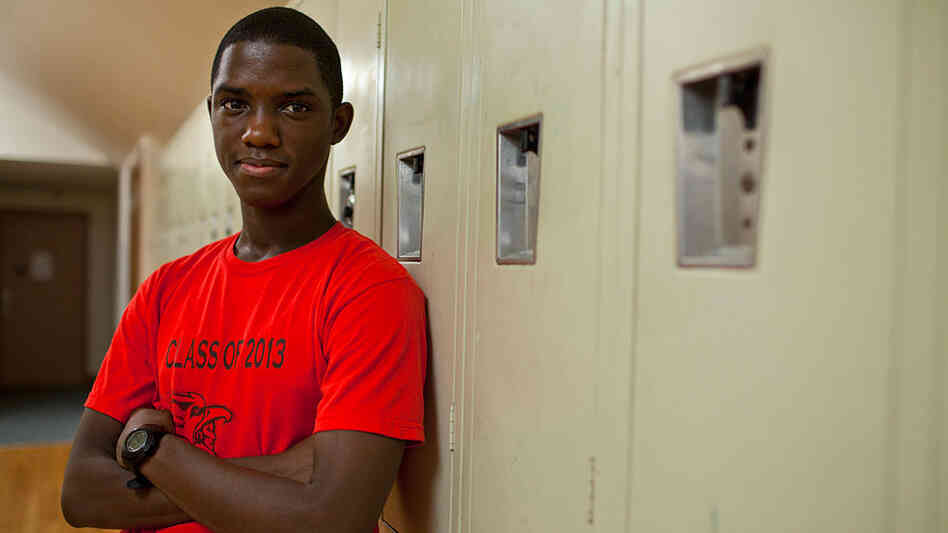 Donnell Bailey, sophomore, at the Metairie Country Day School