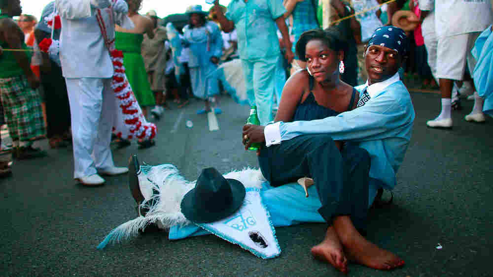A second line parade in New Orleans, in 2009.