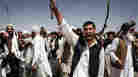 Villagers shout anti-U.S. slogans following the American special forces raid in Wardak, Afghanistan.